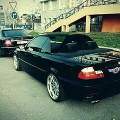 Прокат авто Прокат авто с водителем, BMW E46 Coupe Cabrio, черного цвета