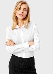Кофта, блузка, футболка женская O'stin Белая рубашка LS4T43-00