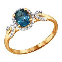 Ювелирный салон Sokolov Золотое кольцо 713802