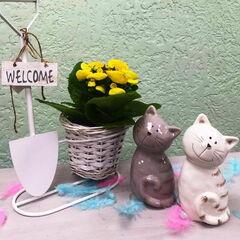 Подарок Прекрасная садовница Декоративная фигурка «Котик» (керамика)