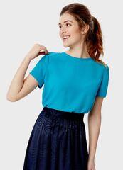 Кофта, блузка, футболка женская O'stin Однотонная блузка LS4S82-N4