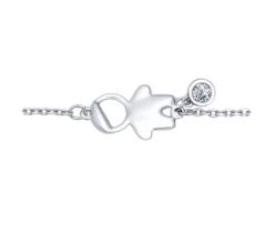 Ювелирный салон Sokolov Браслет «Мальчик» из серебра с фианитом 94050347