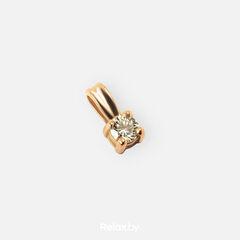 Ювелирный салон Белорусские Бриллианты Подвеска из золота со вставкой бриллиант синтет. 41010011