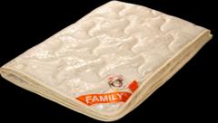 Подарок Голдтекс Элитное мериносовое одеяло в жаккардовом сатине «Фемели» 1065