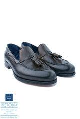 Обувь мужская HISTORIA Мужские туфли лоферы с кисточками, темно-коричневые