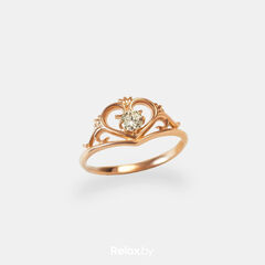 Ювелирный салон Белорусские Бриллианты Кольцо из золота со вставкой бриллиант синт. 21010036