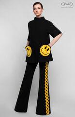 Костюм женский Pintel™ Чёрный костюм из туники и брюк KARISSA
