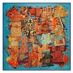 Подарок Schopfer & Shaposhnikoff Платок шелковый «Этна», синий