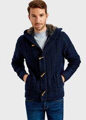 Пиджак, жакет, жилетка мужские O'stin Вязаный жакет с капюшоном MK1T71-69