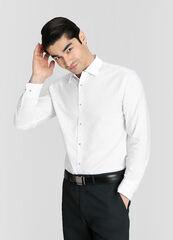 Кофта, рубашка, футболка мужская O'stin Принтованная рубашка из хлопка Oxford MS4W13-00