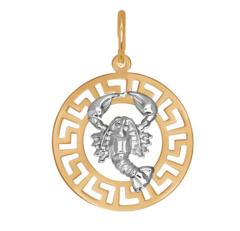 Ювелирный салон Sokolov Подвеска «Знак зодиака Рак» из золота 031297