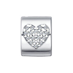Ювелирный салон Sokolov Подвеска-шарм из серебра с фианитами 94030651