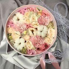 Магазин цветов Cvetok.by Цветочная корзина «Нежная весна»