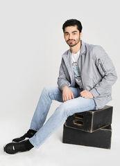 Верхняя одежда мужская O'stin Куртка-бомбер в клетку MJ6W61-62