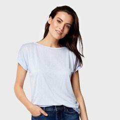 Кофта, блузка, футболка женская O'stin Футболка с пуговицами на плечах женская LT4U5D-61