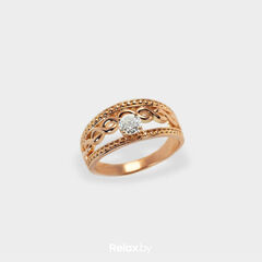 Ювелирный салон Белорусские Бриллианты Кольцо из золота со вставкой бриллиант синт. 21010024