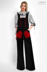 Костюм женский Pintel™ Костюм из блузы и бархатного комбинезона Refka