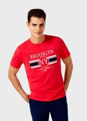 Кофта, рубашка, футболка мужская O'stin Футболка мужская с принтом MT1V32-15