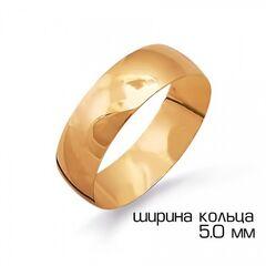 Ювелирный салон Топаз Кольцо обручальное из красного золота Т10001225