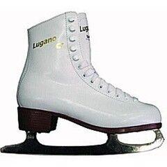 Коньки Graf Детские ледовые коньки Lugano Jr white