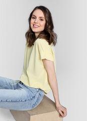 Кофта, блузка, футболка женская O'stin Однотонная футболка из модала LT1W64-30