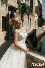 Свадебное платье напрокат А-силуэт Bonjour Платье свадебное Vivien из коллекции La Douceur