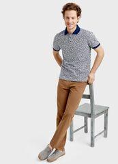 Кофта, рубашка, футболка мужская O'stin Поло в мелкий принт «листья» MT1S81