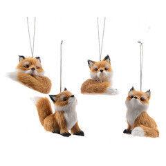 Елка и украшение mb déco Елочная игрушка «Лисичка меховая» в ассортименте