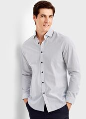 Кофта, рубашка, футболка мужская O'stin Рубашка в микропринт MS4T41-00