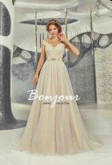 Свадебное платье напрокат А-силуэт Bonjour Платье свадебное «Martina» из коллекции LAMBRE 2017