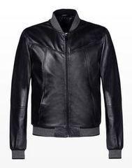 Верхняя одежда мужская Trussardi Кожаная куртка-бомбер мужская 52S04 _510069