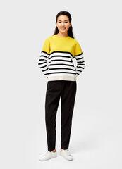 Кофта, блузка, футболка женская O'stin Джемпер женский в полоску с яркой кокеткой LK6V52-34