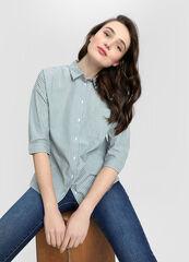 Кофта, блузка, футболка женская O'stin Объёмная хлопковая женская рубашка LS4W32-42