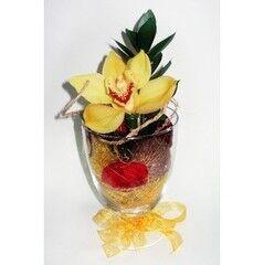 Магазин цветов Планета цветов Цветочная композиция в стекле №4