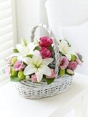 Магазин цветов Cvetok.by Цветочная корзина «Прикосновение весны»