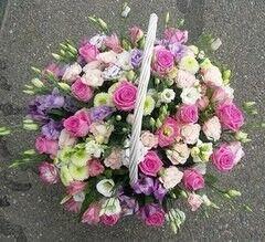 Магазин цветов Cvetok.by Цветочная корзина «Розовая мечта»