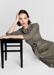 Платье женское O'stin Платье-рубашка с роговой пряжкой LR4W81-37
