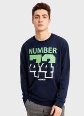 Кофта, рубашка, футболка мужская O'stin Джемпер с принтом «цифры» MT2S43-69