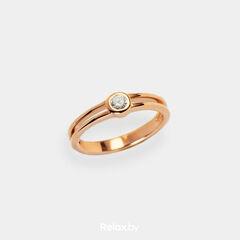 Ювелирный салон Белорусские Бриллианты Кольцо из золота со вставкой бриллиант синт. 21010026