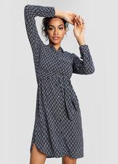 Платье женское O'stin Вискозное платье-рубашка в морской принт LR4W51-64