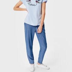 Брюки женские O'stin Свободные брюки из денима LP4S83-D3