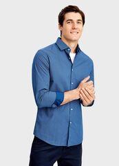 Кофта, рубашка, футболка мужская O'stin Рубашка в микропринт MS4T41-64