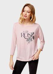 Кофта, блузка, футболка женская O'stin Футболка женская с цветочным принтом LT4U13-X1