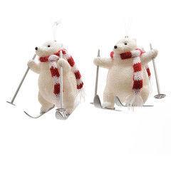 Елка и украшение mb déco Елочная игрушка «Мишка-лыжник»