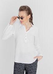 Кофта, блузка, футболка женская O'stin Блузка-туника изо льна с хлопком LS4W91-00