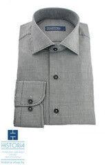 """Кофта, рубашка, футболка мужская HISTORIA Рубашка с черно-белым плетением """"куриная лапка"""""""