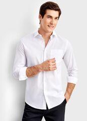 Кофта, рубашка, футболка мужская O'stin Рубашка из однотонного поплина MS6T31-00