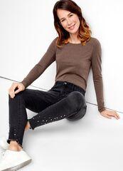 Кофта, блузка, футболка женская O'stin Футболка из хлопка с длинными рукавами LT6T52-T6
