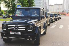 Прокат авто Прокат авто Mercedes-Benz Gelandewagen (черный / белый)