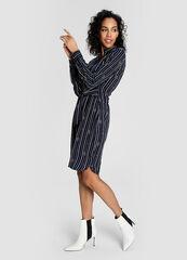Платье женское O'stin Вискозное женское платье-рубашка в морской принт LR4W51-68